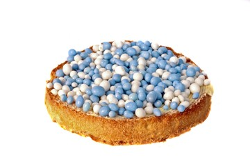 Traditional dutch, biscuit with colored balls