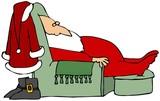 Santa Taking A Nap poster