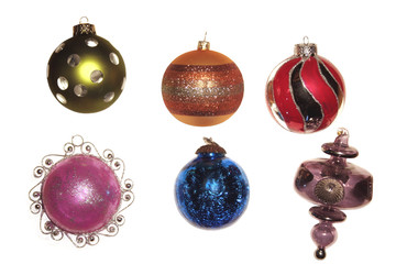 Xmas glass traditional decorations