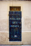 Atelier des rêves. Inscription sur porte, Marseille, France. poster