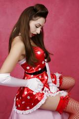 santa pin-up girl