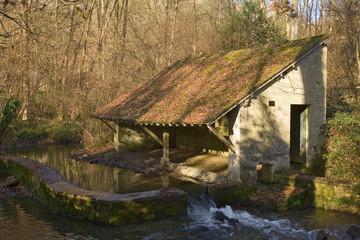 france; vallée de chevreuse , yvette : lavoir