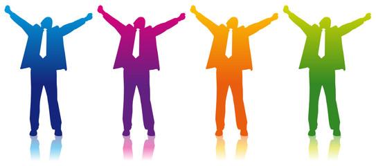 happy businessman colors vecto