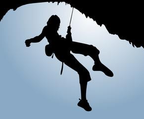 Climber with sky