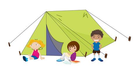 camping children