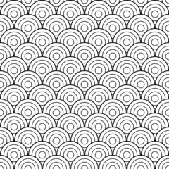 Black and white scales retro pattern