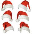 Leinwandbild Motiv Cappelli di Babbo Natale