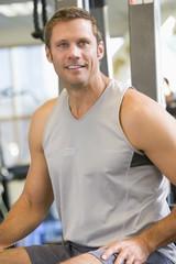 Portrait Of Man At Gym