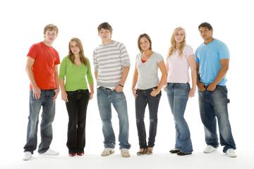 Portrait Of Teenage Girls And Boys