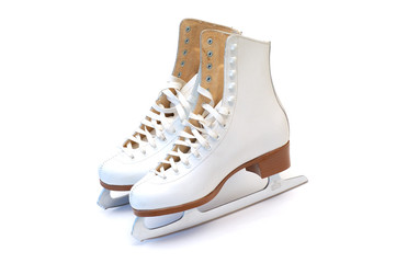 White skates, isolated