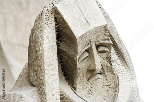 statua di vecchio profeta poster