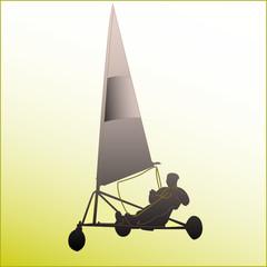 a0324 - Char à voile