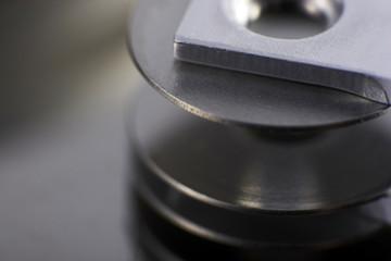 Schreib/Lesekopf einer Festplatte