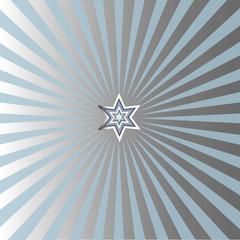 Silvery christmas star