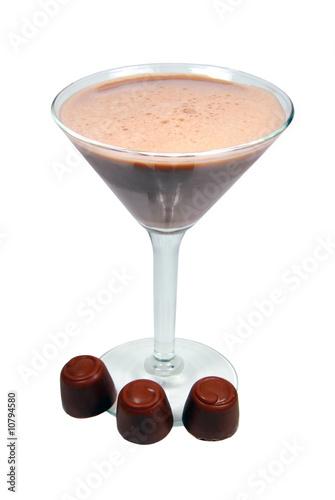 Leinwandbild Motiv Chocolate Smoothie