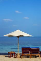Beach on an island in the Indian Ocean