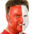 Sports Fan In Face Paint poster
