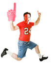 Sports Fan Jumps For Joy poster