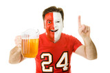 Sports Fan with Beer poster