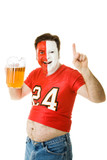 Sports Fan with Beer Belly poster