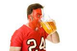 Beer Guzzling Sports Fan poster