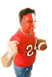 Painted Sports Fan Aggressive poster