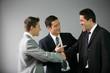 Hommes d'affaires en entretien professionnel