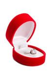 Brilliant ring in box. poster