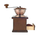 Coffee grinder profile cutout poster
