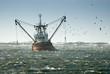 Leinwanddruck Bild - fishing ship