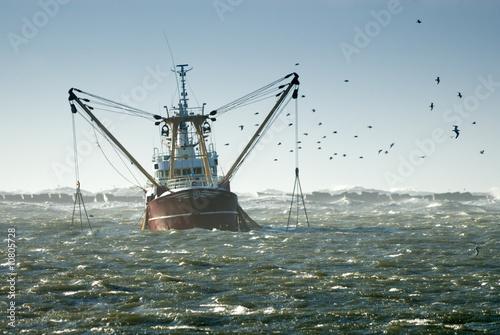 Leinwanddruck Bild fishing ship