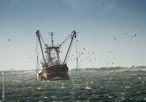 canvas print picture fishing ship