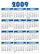 calendrier  2009 anglais