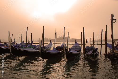 Foto op Aluminium Venetie Gondoles à Venise
