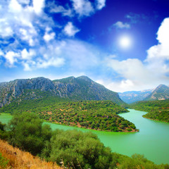 River relaxing landscape Cedrino