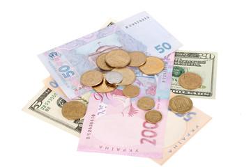 Hrivna and dollar