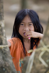 Portrait Hmong Mädchen Laos
