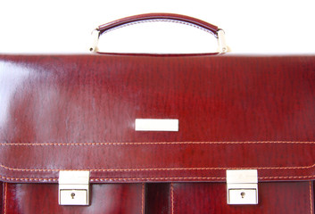 close-up of business briefcase