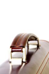 close-up of briefcase handle