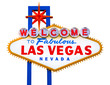 Welcome to Fabulous Las Vegas isolated sign