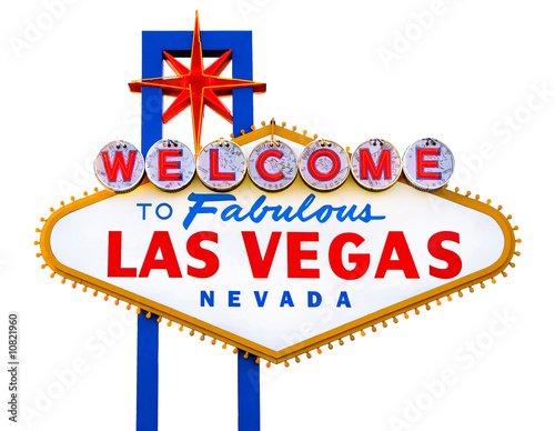 In de dag Las Vegas Welcome to Fabulous Las Vegas isolated sign