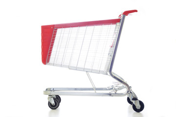 Big red shopping cart