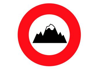 mountains warning