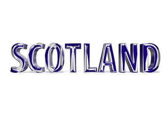 3D Shiny Scotland text
