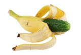 Genetically altered food banana with cucumber