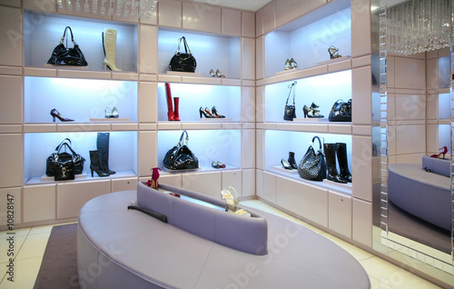 Shoes and bags in store.