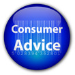 """Consumer Advice"" button with barcode"