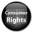 """Consumer Rights"" button with barcode (black)"