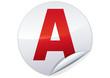 Sticker A permis de conduire probatoire (détouré)