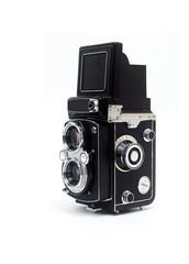 Vintage twin-lens camera